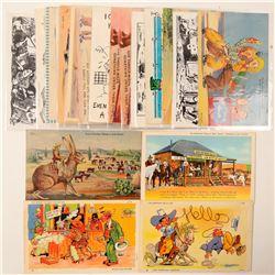 Humorous Cowboy Postcards  (102359)
