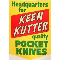 Keen Kutter Knife Paper Sign  (101778)