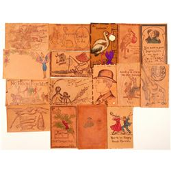 Leather Post Cards  (91227)