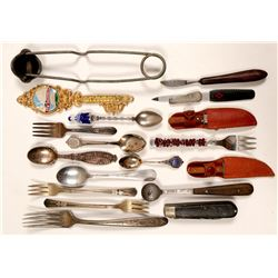 Souvenir Forks , Spoons, and Knives / 18 Pieces.  (102110)