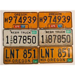 Western States License Plates (6)  (91312)