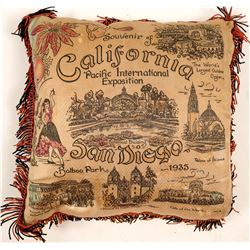 "Pillow / Souvenir ""California Pacific International Exposition.  (102085)"