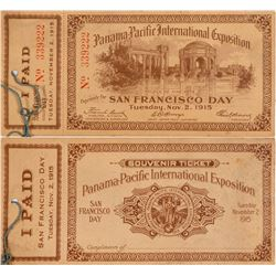 Souvenir Ticket Panama-Pacific International Exposition  (101701)