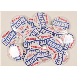 George Bush 1992 President Buttons (19)  (101757)