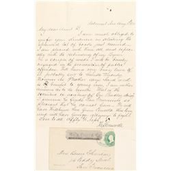 Belmont, Wells Fargo Entire with Letter  (99100)