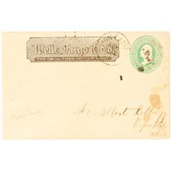 Union Pacific Cancel on Wells Fargo Entire with Strong Elko Stamp  (99005)