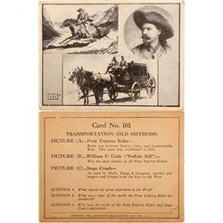 Buffalo Bill b/w postcard  (100438)