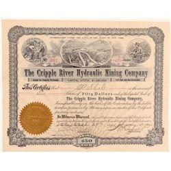 Cripple River Hydraulic Mining Company Stock  (101465)