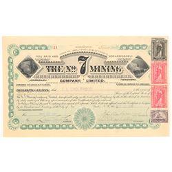 The No. 7 Mining Company Limited Stock  (103562)