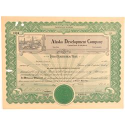 Alaska Oil Company Stock Certificate  (101452)