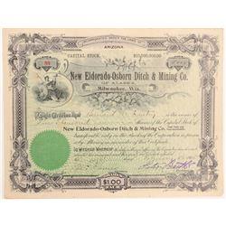 New Eldorado-Osborn Ditch & Mining Company Stock  (103560)