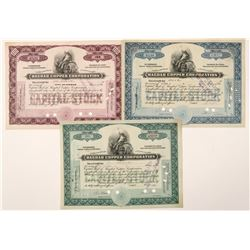 Three Different Bagdad Copper Stocks  (91654)