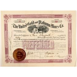 United Gold and Platinum Mines Company Stock  (91692)