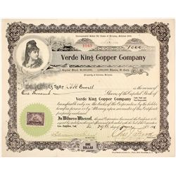 Vede King Copper Company Stock Certificate  (59597)
