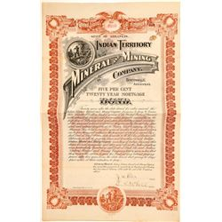 Indian Territory Mineral & Mining Company Bond, 1898  (100997)