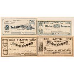 Butte County & Sierra County Mining Stocks  (91877)