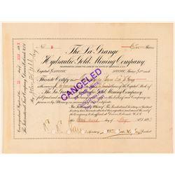 La Grange Hydraulic Gold Mining Co. Stock Certificate  (91612)