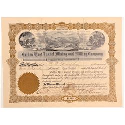 Golden West Tunnel Mining and Milling Company Stock  (103559)