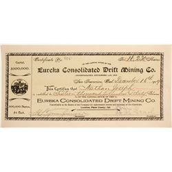 Eureka Consolidated Drift Mining Co. Stock Certificate  (88422)