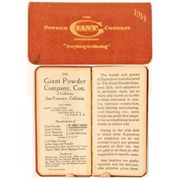Giant Powder Company Pocket Diary  (101218)
