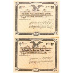 Banded Peak Land & Mining Co. Stock Certificates  (91573)