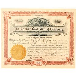 Banner Gold Mining Company Stock Certificate  (91574)