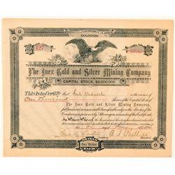 Inez Gold & Silver Mining Company Stock Certificate  (91611)