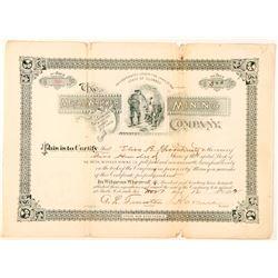 Metal Worker Mining Company Stock Certificate  (91552)