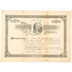 Metal Worker Mining Company Stock Certificate  (91552)