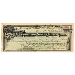 May-Mazeppa Cons. Mining & Milling Co. Stock Certificate  (91729)