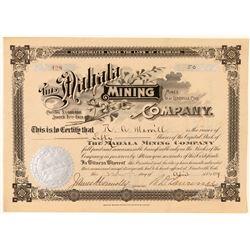 Mahala Mining Company Stock Certificate (Site of Mine Fire)  (91725)