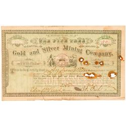 The Pine Tree Gold & Silver Mining Co. Stock Certificate  (91855)