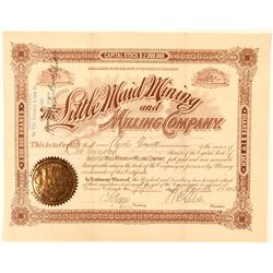 Little Maid Mining & Milling Co. Stock Certificate  (91727)