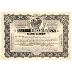 Hancock Consolidated Mining Company Stock Certificate  (102233)
