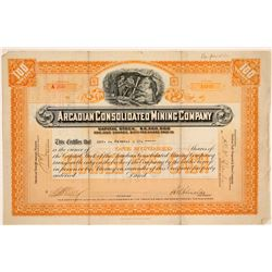 Arcadian Consolidated Mining Company Stock Certificate  (102231)