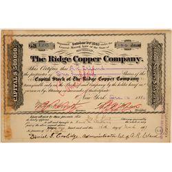 Ridge Copper Company Stock Certificate  (102207)