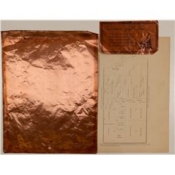Two Michigan Mining Lettersheets incl. Copper LS  (102239)