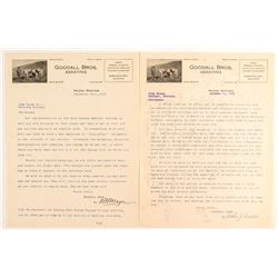 Goodall Bros. Assaying Letters (2 count)  (50625)