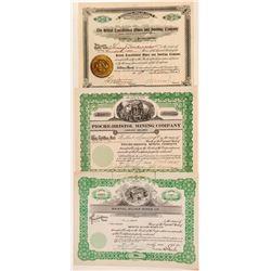 Three Bristol, Nevada Mining Stock Certificates  (101577)