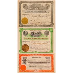 Three Different Clark County, Nevada Mining Stocks  (101592)