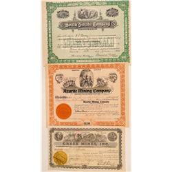 Three Different Clark County, Nevada Mining Stocks  (101593)