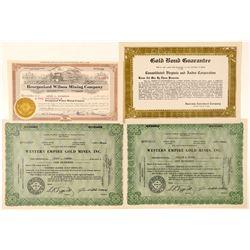 Post-1900 Comstock Mining Stocks  (101602)
