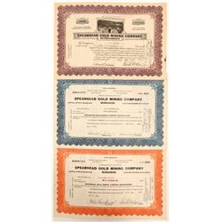 Spearhead Gold Mining Company Stock Certificates  (102175)