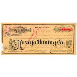 Navajo Mining Company Stock Certificate  (100735)