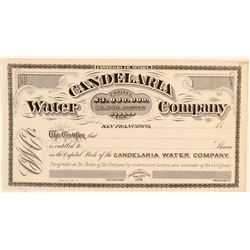 Candelaria Water Company Stock Certificate  (91837)