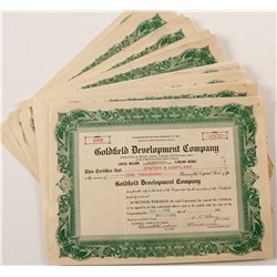Goldfield Development Co. Stock Certificate Collection  (67083)
