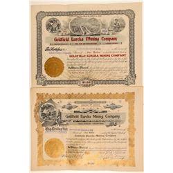Goldfield Eureka Mining Co. Stock Certificate Pair  (102530)