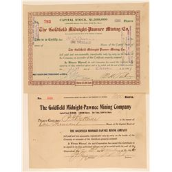 Goldfield Midnight-Pawnee Mining Co. Stock Pair  (102204)