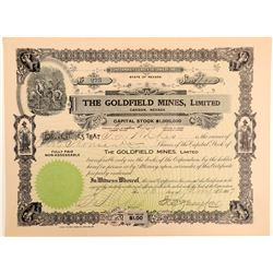Goldfield Mines, Ltd. Stock Certificate Signed by EB Yerington  (102544)