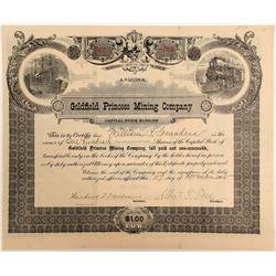 Goldfield Princess Mining Company Stock Certificate  (102509)